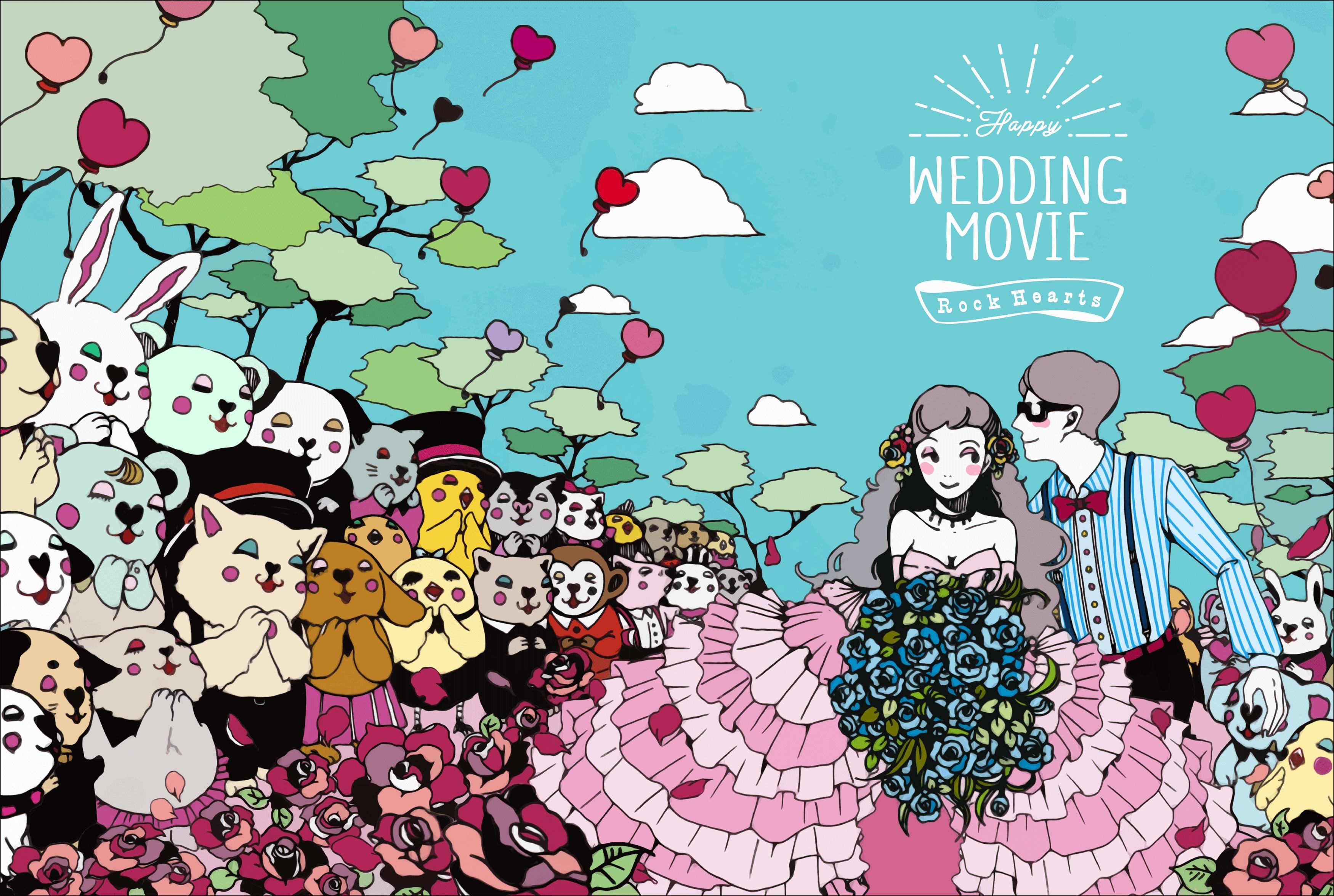 披露宴の結婚式ウエディングイラスト